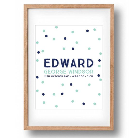 Fine Art Personalised Name Print Spotty by poppylovestogroove