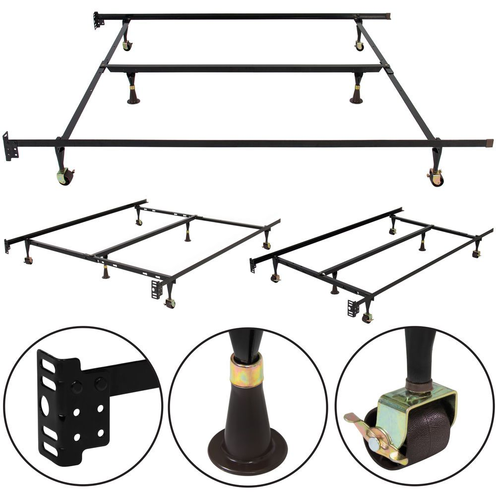 Details About Heavy Duty Adjustable Bed Frames Queen Full Twin