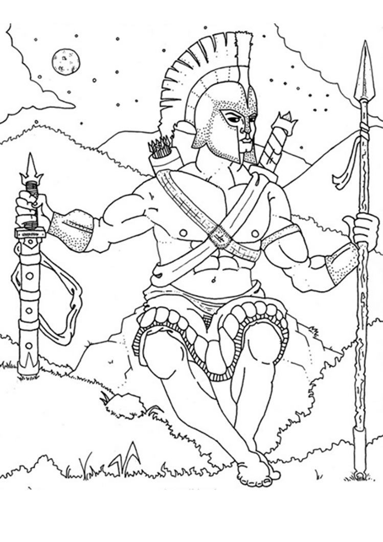 Greek Gods Coloring Pages God Ares Spiderman Coloring Coloring Pages Avengers Coloring Pages