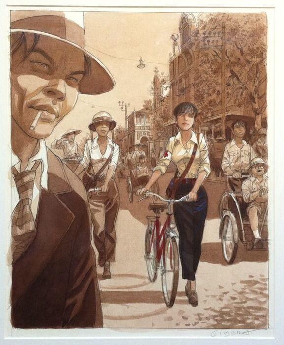 Illustration Mattéo by Jean-Pierre Gibrat - Original art