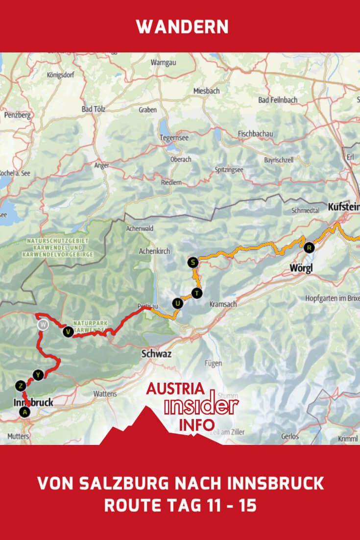 Weitwandern Salzburg Innsbruck Route Tag 11 15 Austria