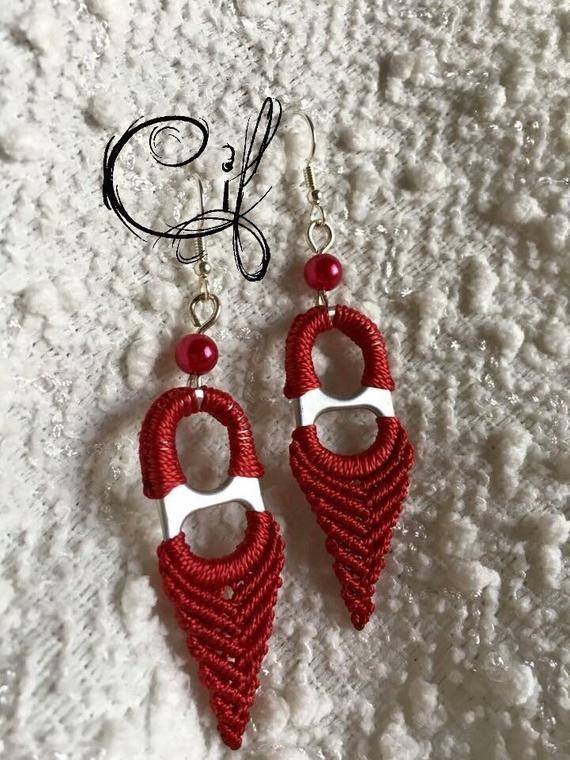 Macramé Custom Earrings with tabs