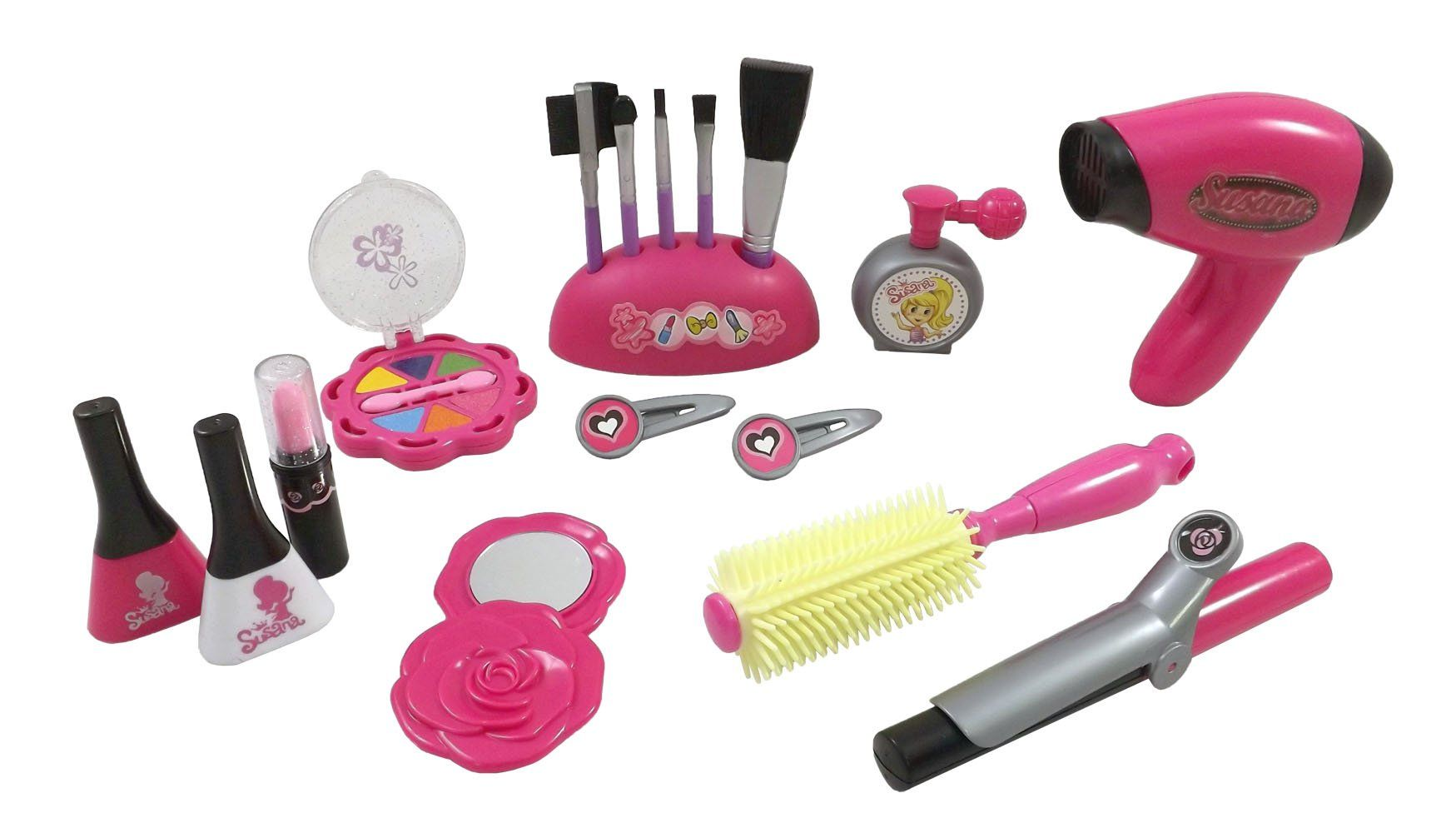 fb8a18634917 Stylish Girls Deluxe Beauty Salon Fashion Play Set with Hairdryer ...