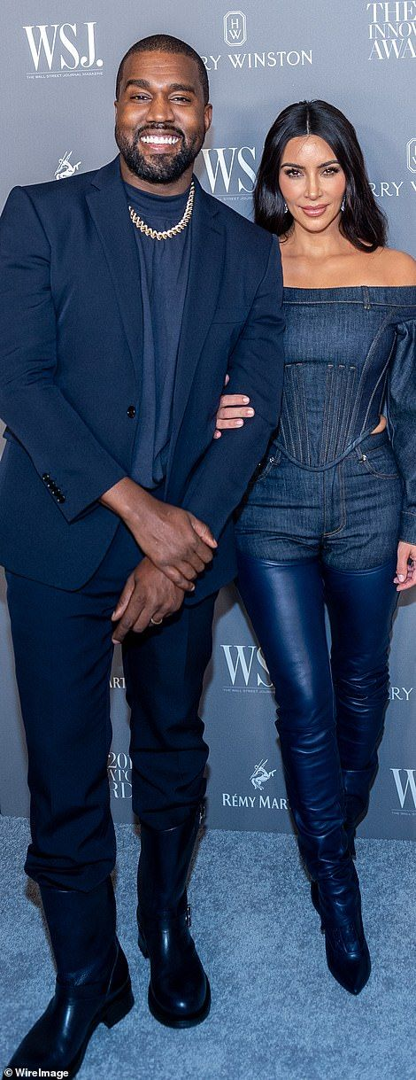 Kim Kardashian with Kanye West at WSJ Magazine Innovator Awards