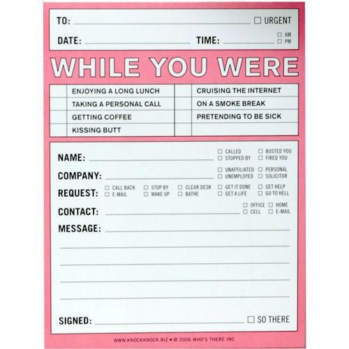 While You Were Out Notepad Practical Jokes Funny Note Knock Knock