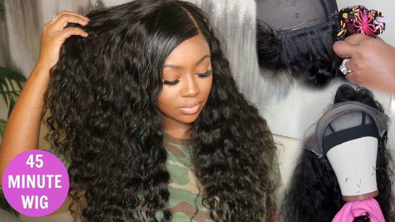 how to make a lace front wig with glue