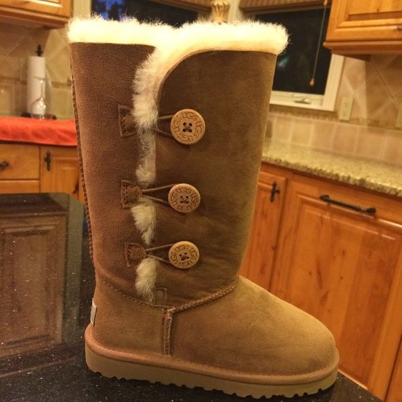 508dd7b77 Tall Bailey Button chestnut. Children girls 13. Brand new, never worn. So  cute! UGG Shoes Winter & Rain Boots