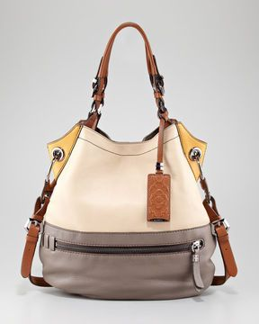 c3d7345bc5be Oryany Sydney Colorblock Shoulder Bag on shopstyle.com