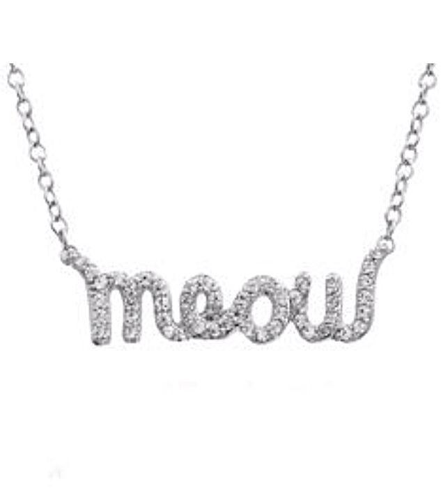Diamond Meow Pendant   ASPCA® Tender Voices® Collection
