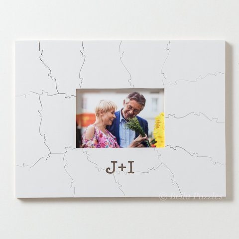 WHITE FRAME Puzzle Wedding Guest Book Alternative | Bella Puzzles ...