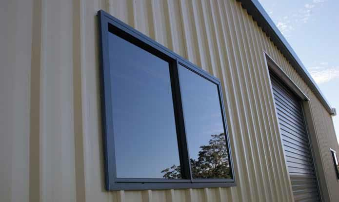 Colorbond Cladding With Dark Windows And Trims Csd