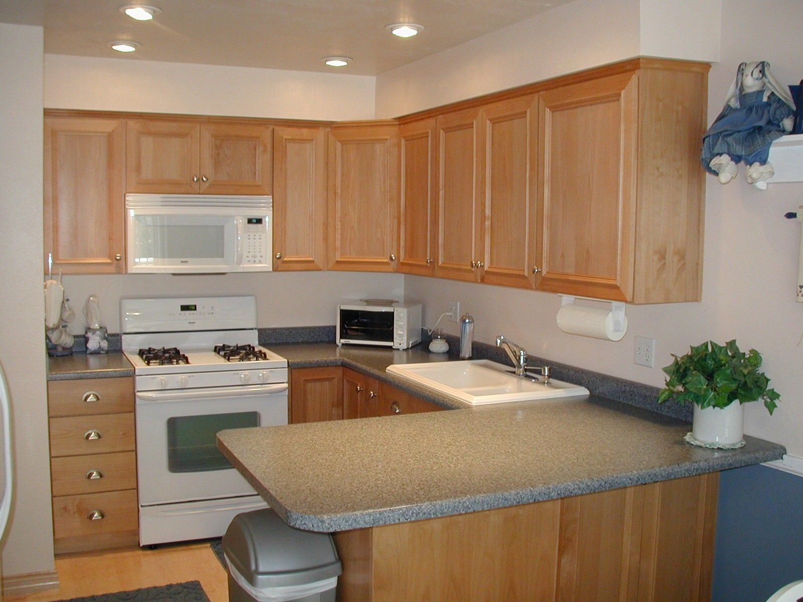 Lovely Kitchen Counter Color W/ White Appliances