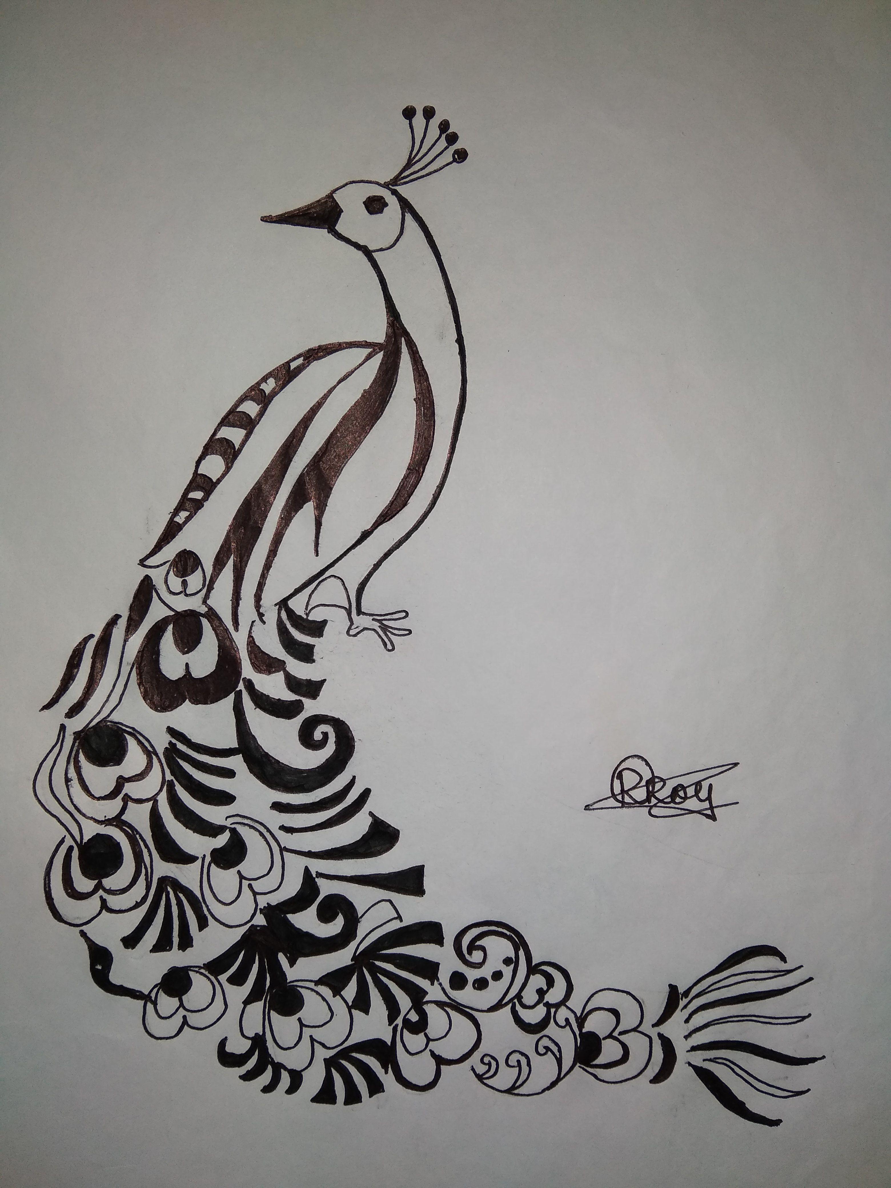 Artsketch peacock drawings pencil drawing of peacock · pencil