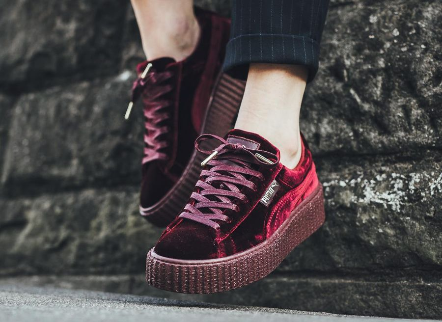 avis basket rihanna fenty x puma creepers velvet velours bordeaux 1 shoes pinterest puma. Black Bedroom Furniture Sets. Home Design Ideas
