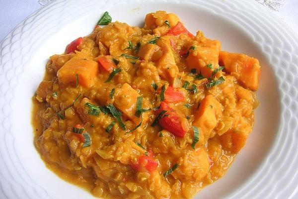 Photo of Rote Linsen-Curry mit Süßkartoffeln von roddenberry   Chefkoch