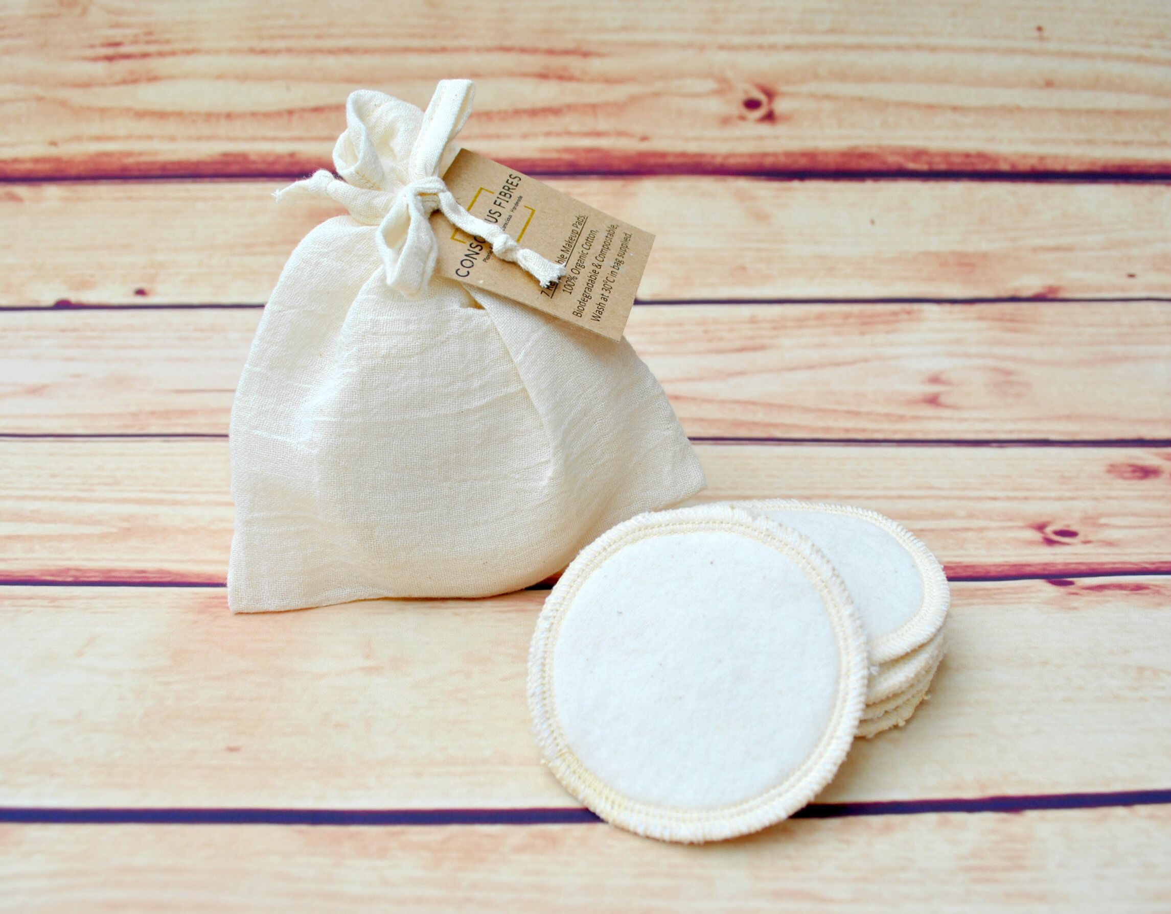 Makeup rounds zero waste pads organic cotton plastic free
