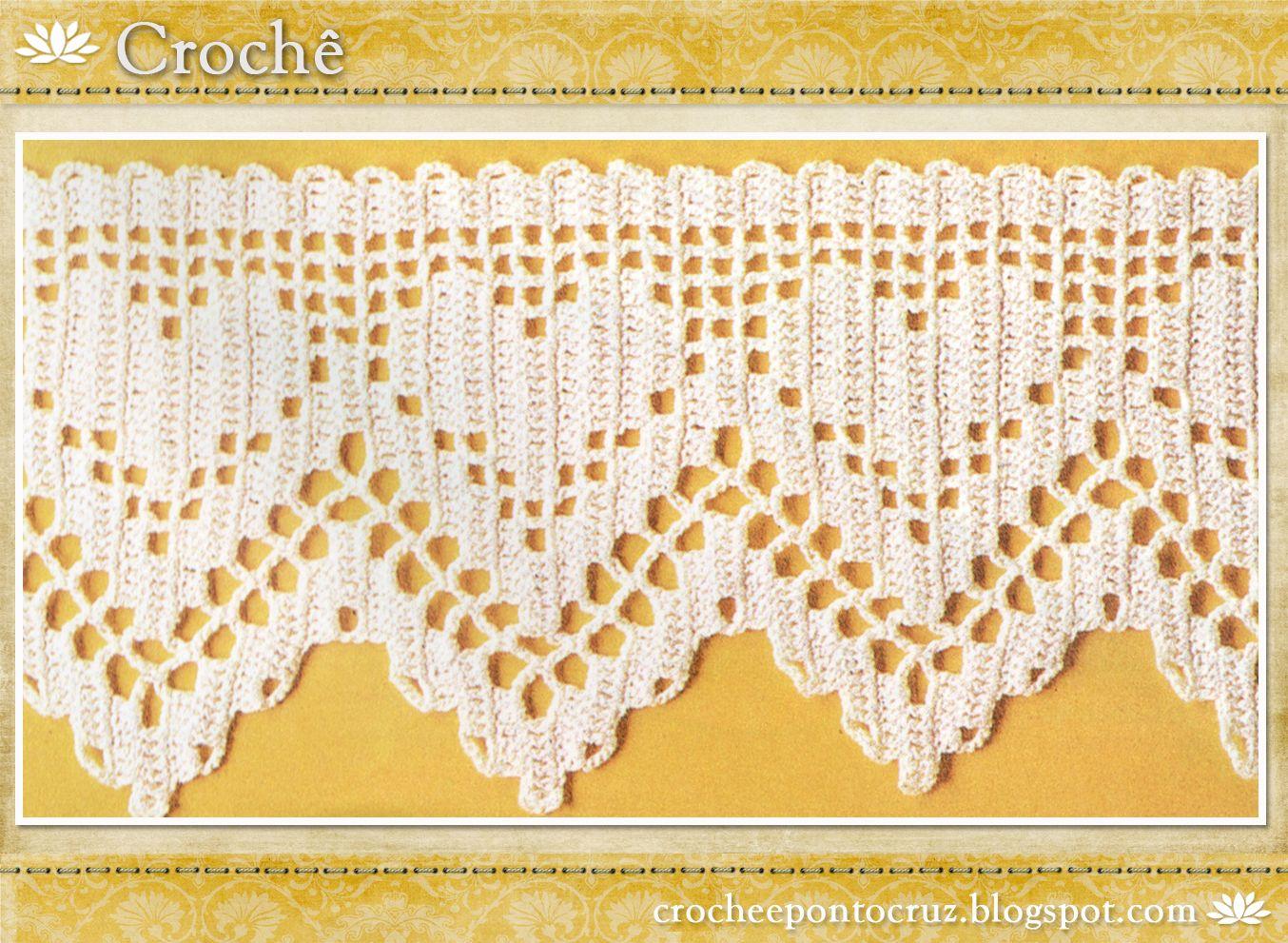 Resultado de imagem para bicos de croche | 1 Filet / Tapestry ...