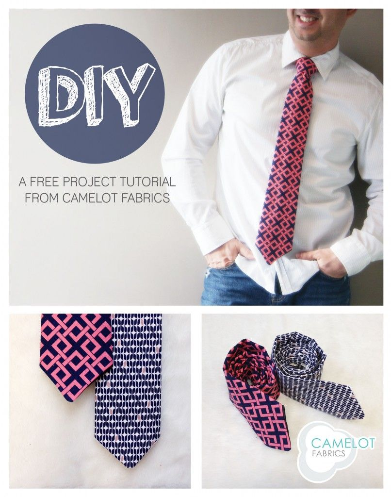 How To\'s Day: DIY Necktie Tutorial   Camelot Fabrics. Freshly Made ...