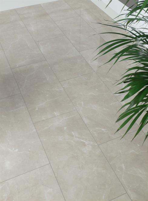 High Gloss Laminate Flooring In Cream Ceramic Tile Pinterest