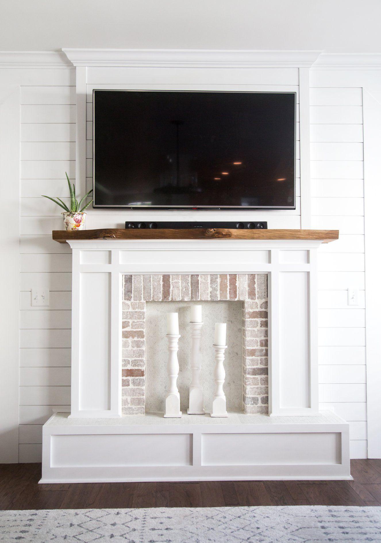 DIY Faux Fireplace and Shiplap wall Faux fireplace, Diy