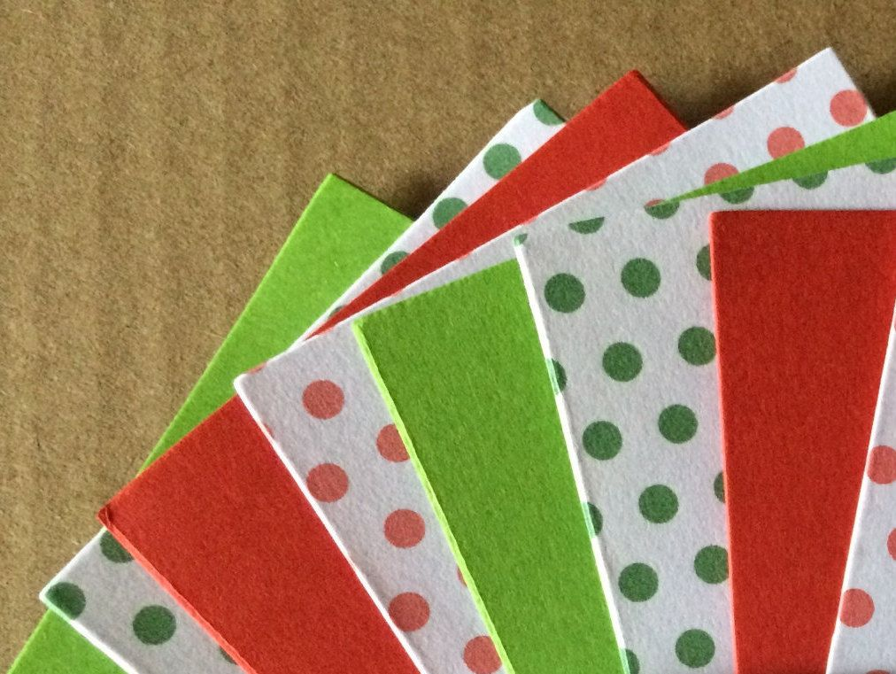 Cardstock A7 Xmas X 20 X Christmas Cardstock Red Green Polka Dot
