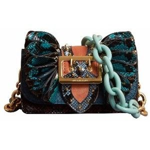 da7dae690af Burberry Ruffle Buckle Bag in Snakeskin and Velvet | Purses / Bag ...