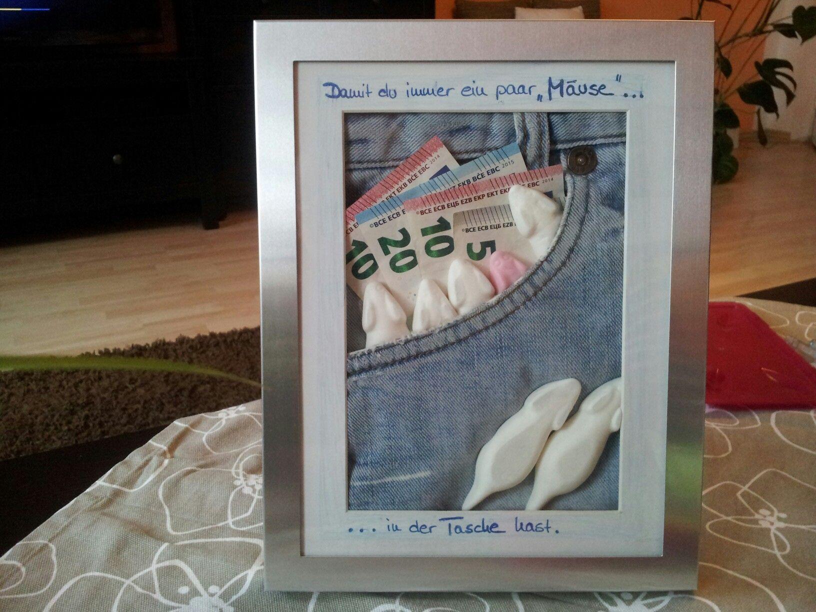 Geldgeschenk Geburtstag Konfirmation Kommunion Jeans  Tasche für Geld Upcycling