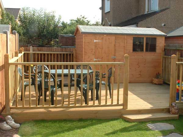 Deck and shed garden solutions pinterest decking and for Garden shed on decking