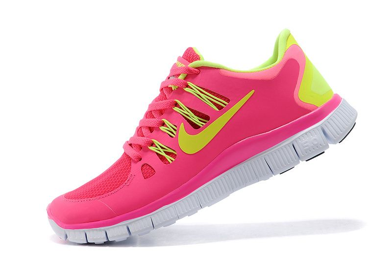Authentic Nike Shoes For Sale Nike Free Run 5 Women Pink Yellow -