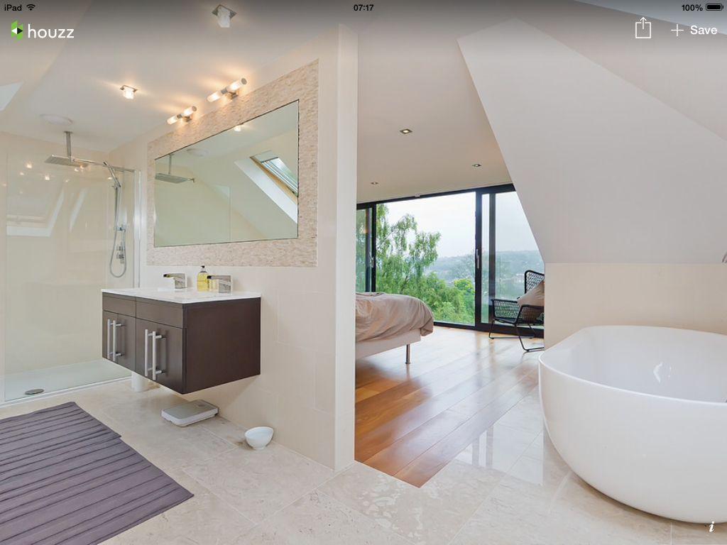 Badkamer En Suite : Badkamer slaapkamer ineen indrukwekkend badkamer slaapkamer met