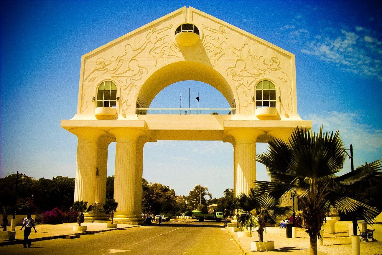 Gambia Banjul Arch Pretty Sure Ive Seen This Gambia The Gambia Banjul