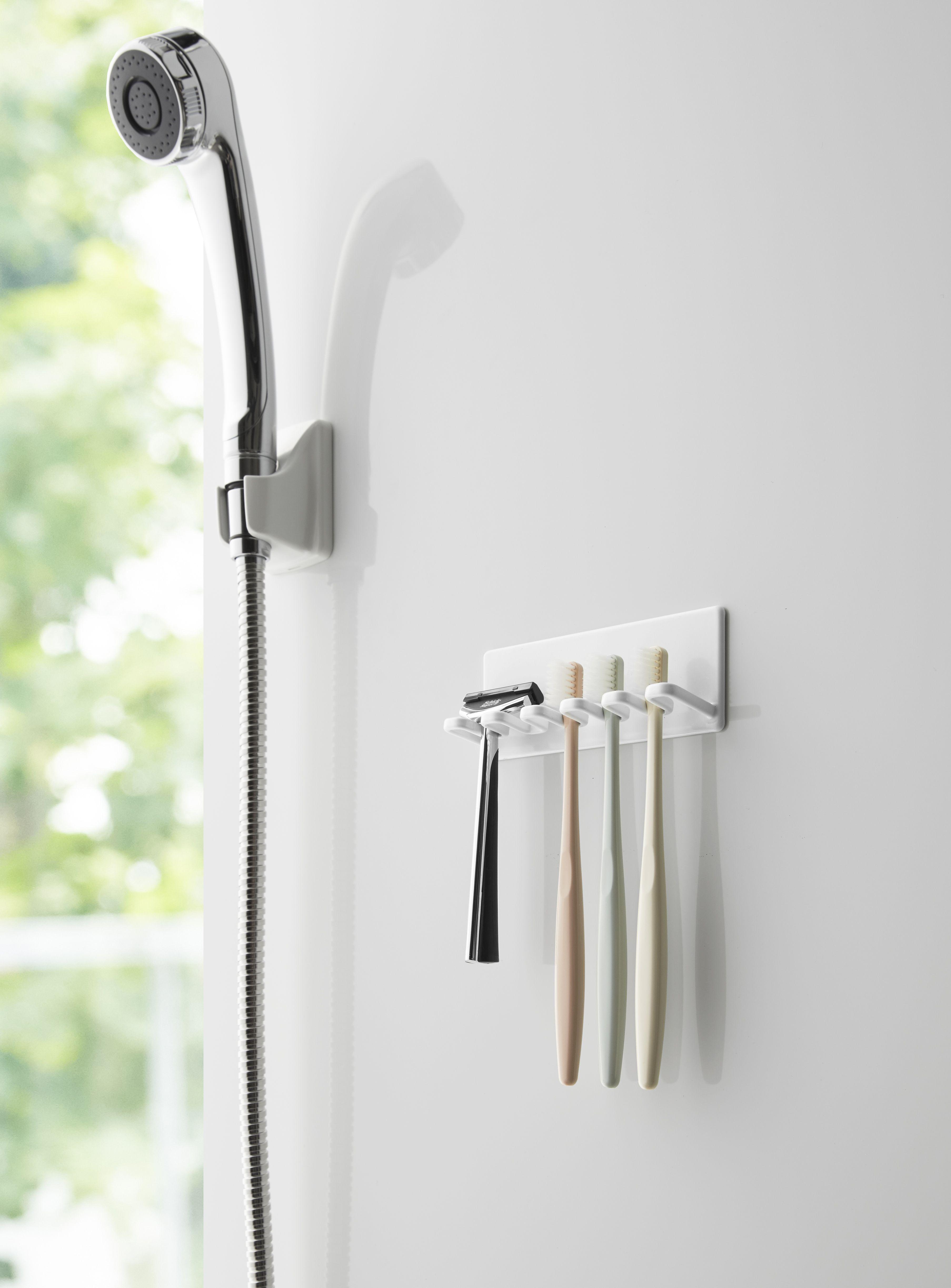 マグネットバスルーム歯ブラシホルダー 5連 タワー 歯ブラシホルダー 歯ブラシ バスルーム