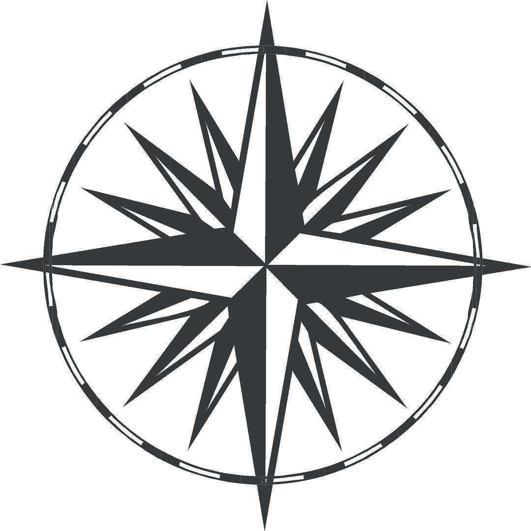 Compass Rose Large Wall Decal