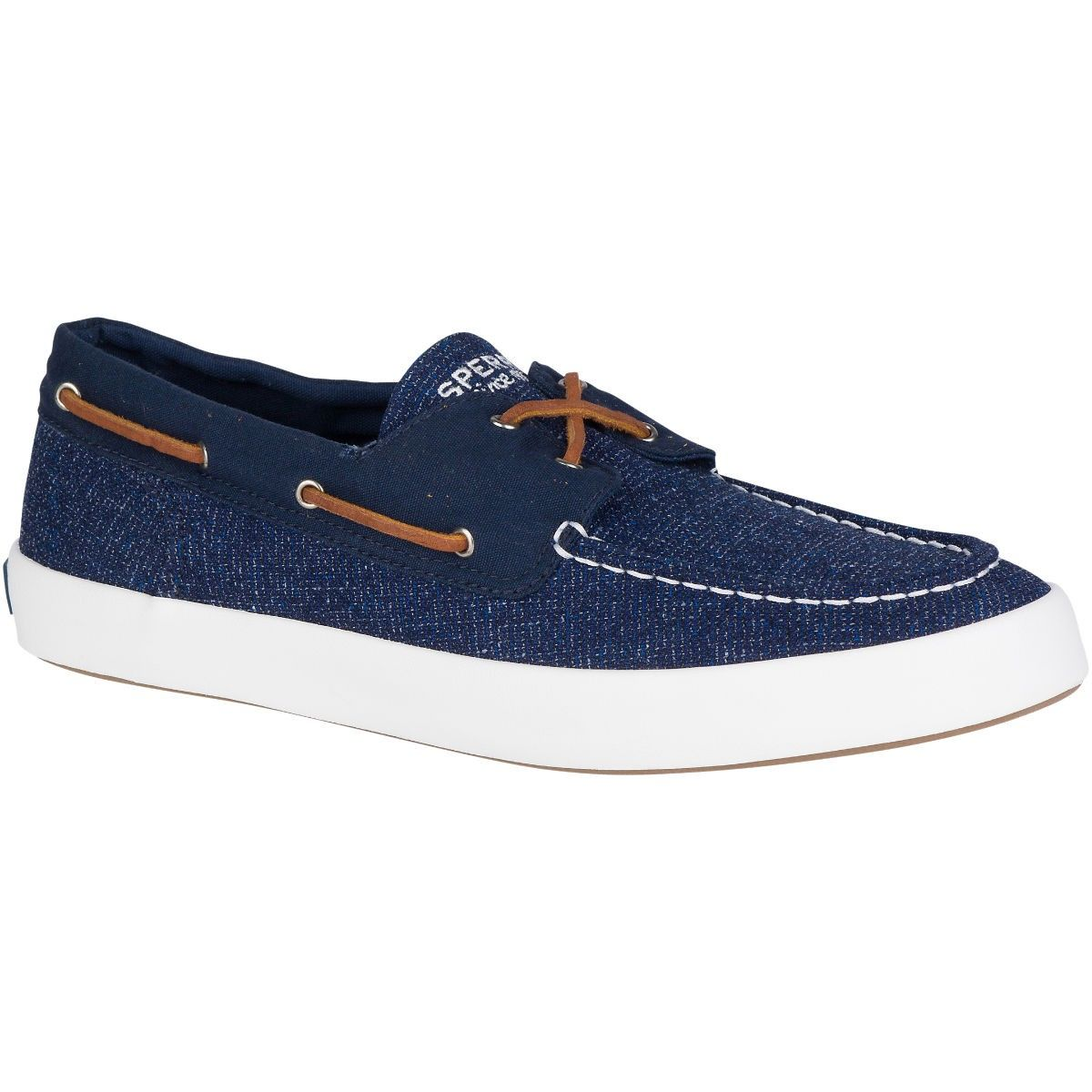 SPERRY Men's Wahoo 2-Eye Multi-Knit Sneaker - Navy. #sperry #