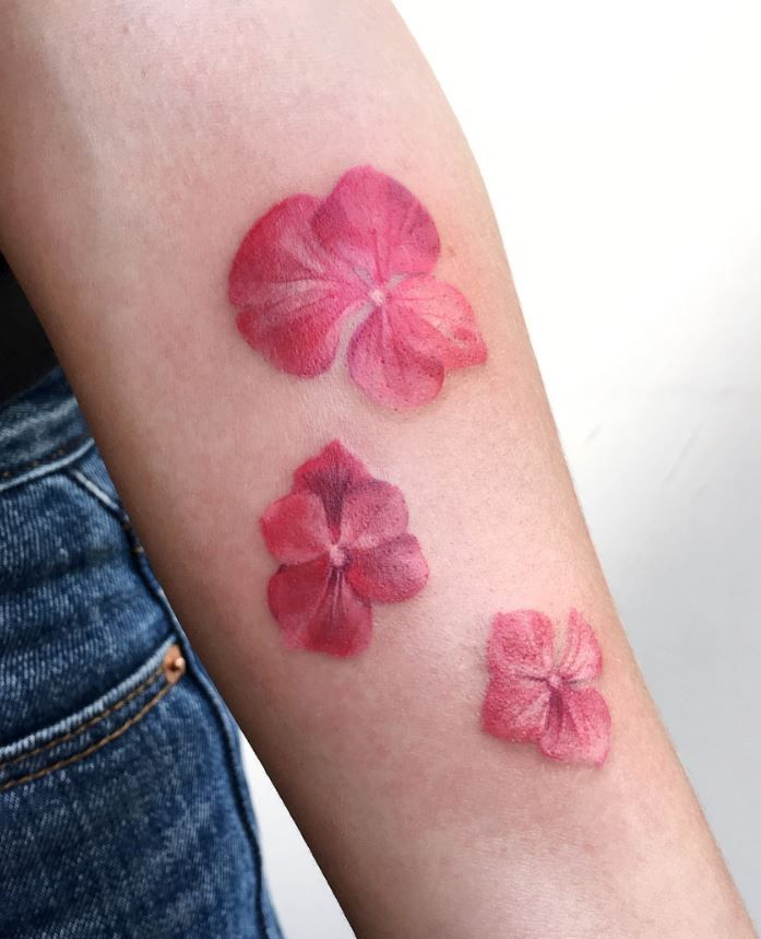 824e43459 Little Pink Flowers Tattoo | Flower Tattoos | Pink flower tattoos ...