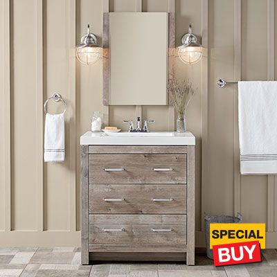 Vanity On Sale At Home Depot For 199 With Images Home Depot Bathroom Vanity Home Depot Bathroom Small Bathroom Vanities