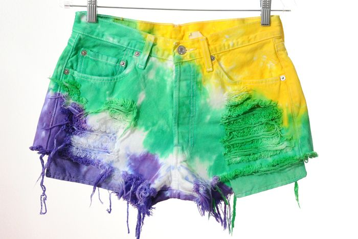 5cde3ea7b3922 Mardi Gras Madness! | FAVORITE TIME OF THE YEAR!!! | Tie dye shorts ...