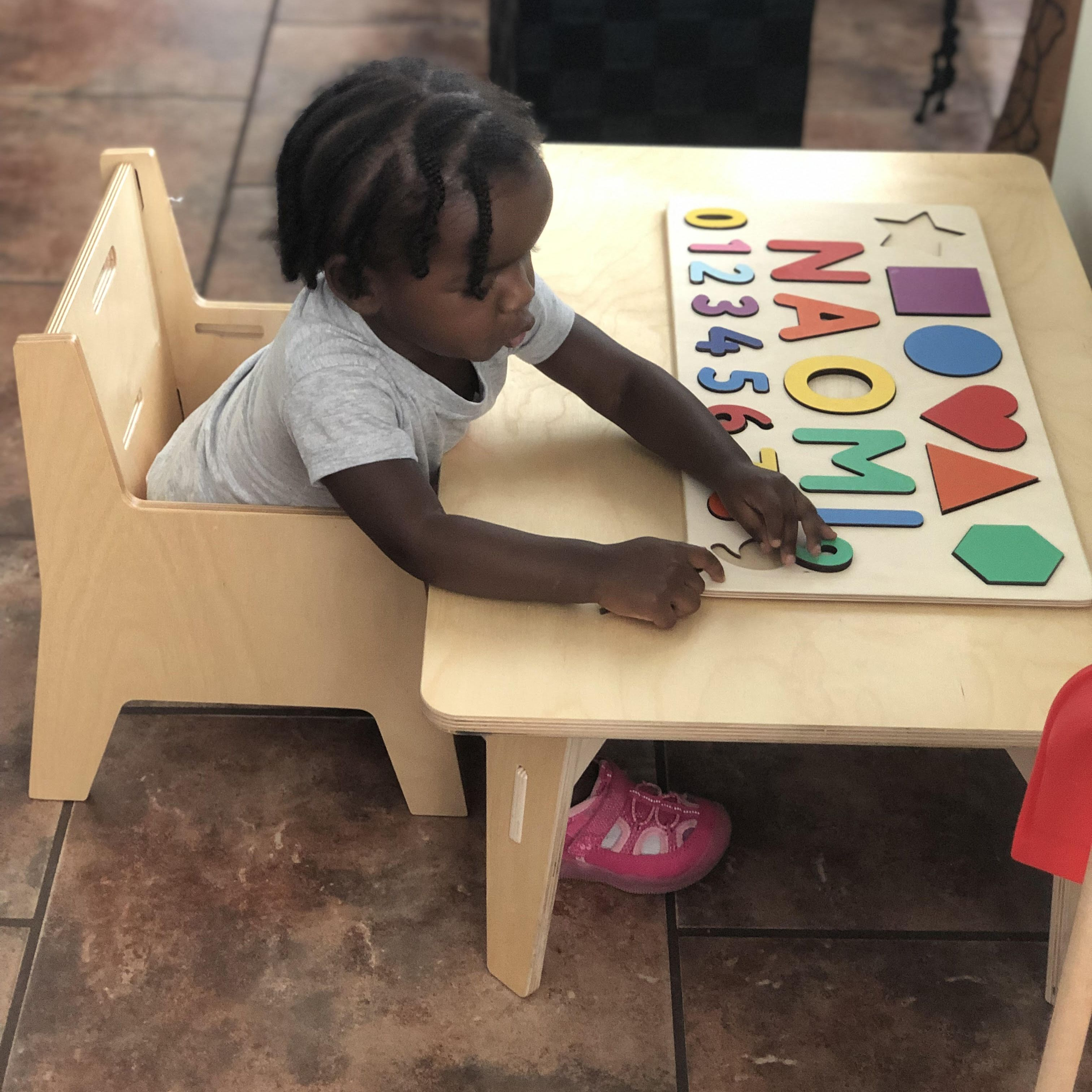 Adjustable Montessori Weaning Chair Table Set Table Settings Montessori Weaning