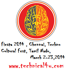 Fiesta 2014, Chennai Mathematical Institute, Chennai, Techno Cultural Fest, Tamil Nadu, March 2-23,2014