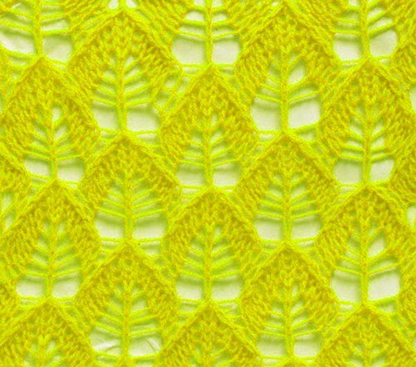 Blattmuster | Strickschriften Ajourmuster und Lace | Pinterest ...