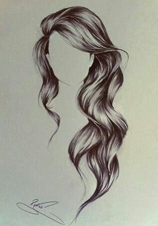 #cabelloLargo #dibujo