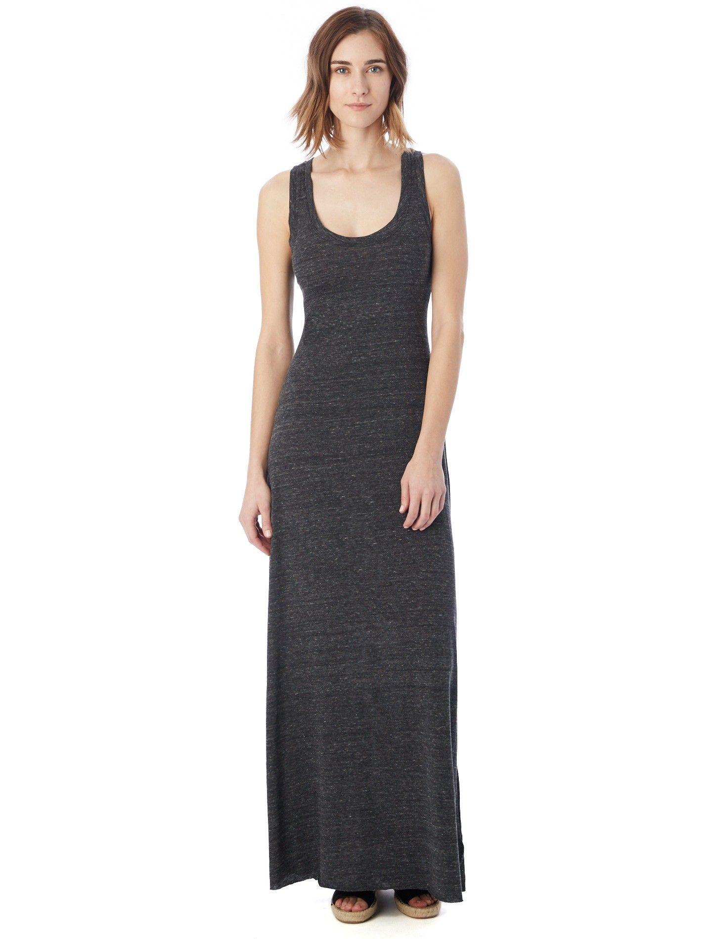 Alternative Apparel Racerback Eco Jersey Maxi Dress M Eco True