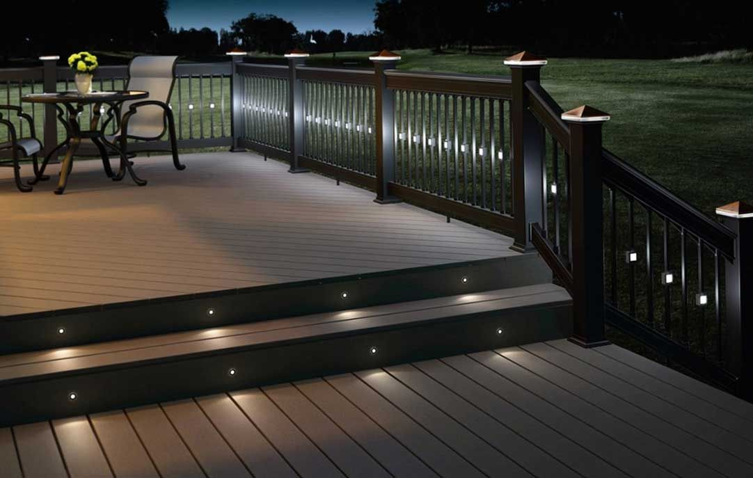 amazing look deck light with beautiful rail lights and. Black Bedroom Furniture Sets. Home Design Ideas