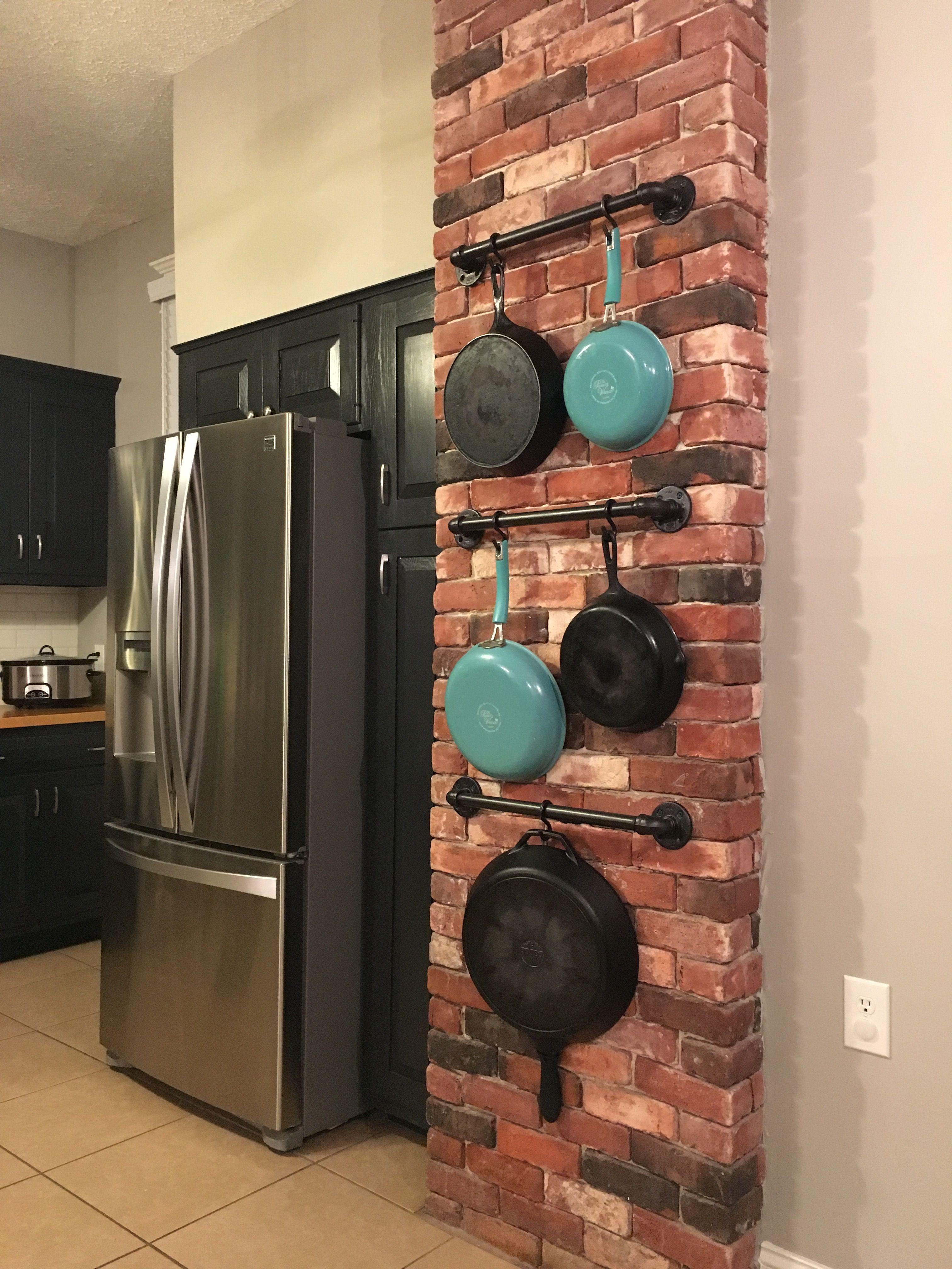 Cast iron display pan storage farm house pan storage