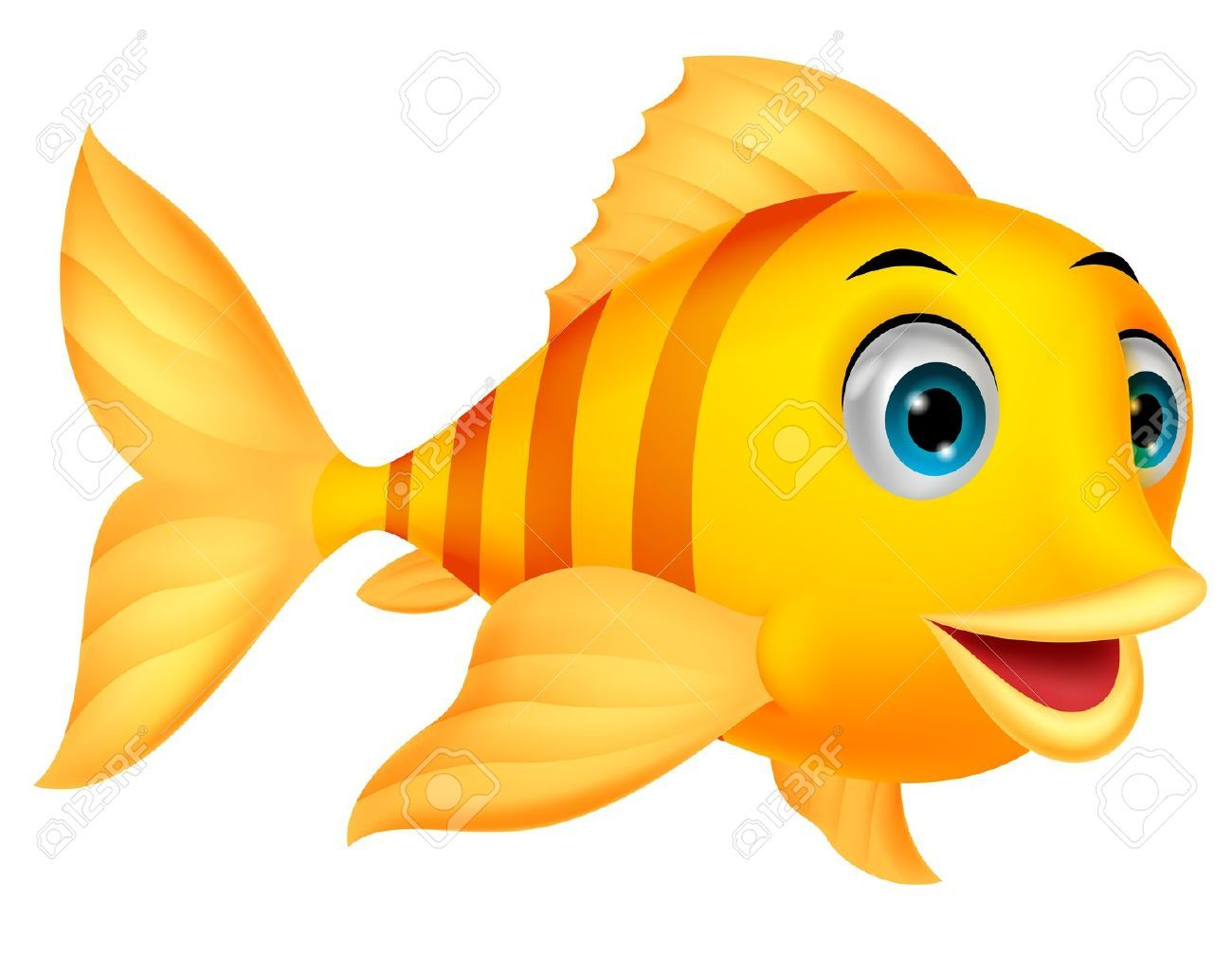 Cute Fish Cartoon Royalty Free Cliparts Vectors And