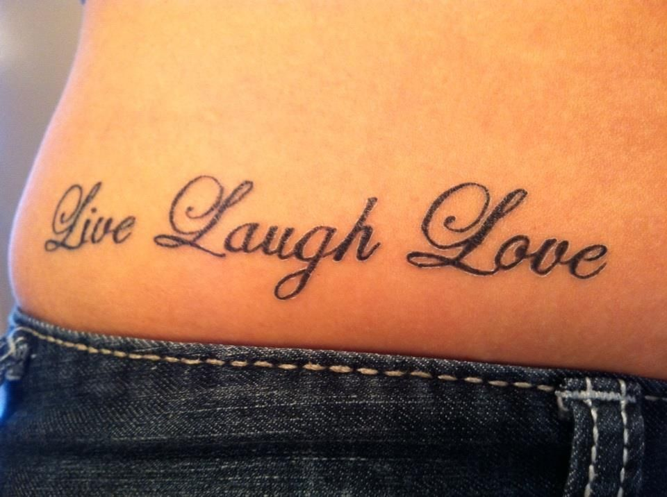 Live Laugh Love Tattoo quotes, Tattoos, Infinity tattoo