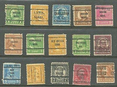US Stamp 1920's up, # 557 - 5¢ T. Roosevelt, 4¢ Washington Set of 15 Stamp