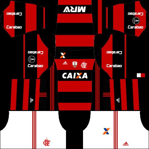 Kit Flamengo Dls17 Uniforme Libertadores Casa Camisa Do Flamengo Flamengo Novos Uniformes
