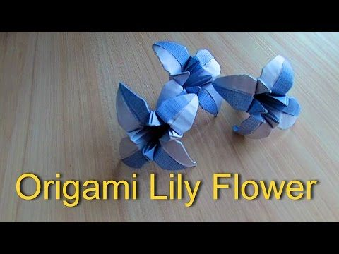 Origami Lily Flower (Designed by Henry Phạm) - YouTube