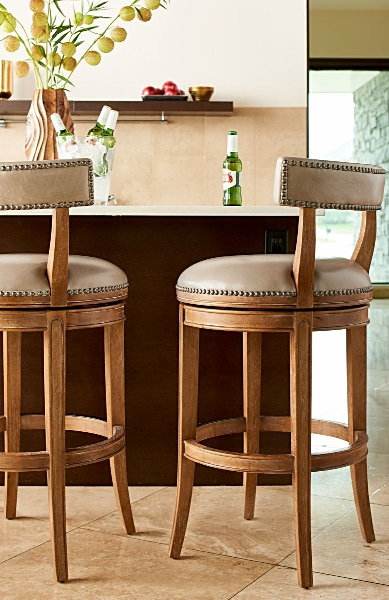 Upholstered Swivel Bar Stools With Backs Kitchen And Elsewhere